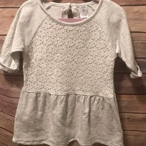 Carters sweatshirt/lace tunic